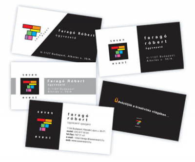 névjegykártyának grafikai tervezése