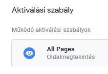 Google Címkekezelő, all pages