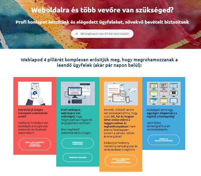 weblapfejlesztés, webdesign