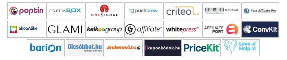 Unas webáruhaz partnerek